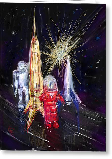 Robbies Greeting Cards - Star City Greeting Card by Russell Pierce