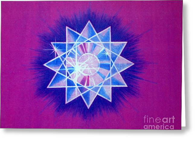 Faa Exclusive Greeting Cards - Star Crystal Greeting Card by Shasta Eone