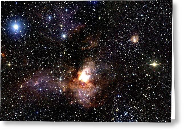 Stellar Evolution Greeting Cards - Star Forming Region Greeting Card by 2mass Projectnasa