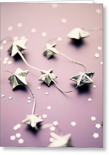Common Item Greeting Cards - Star Garland Greeting Card by Lawrence Lawry