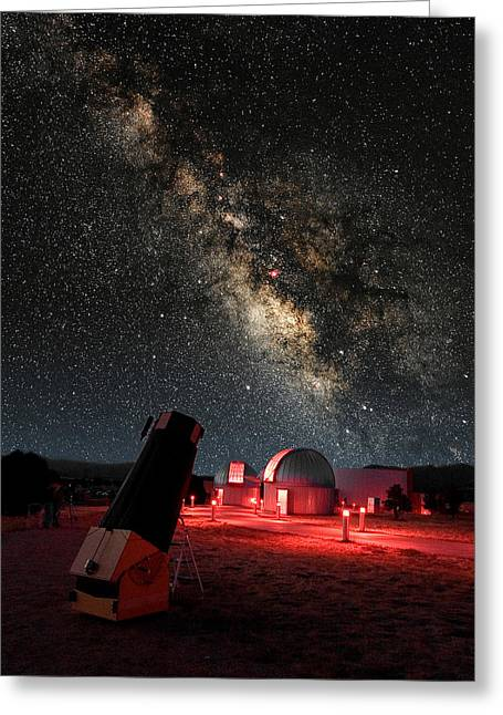 Composite Photo Greeting Cards - Star Gazers Heaven Greeting Card by Larry Landolfi