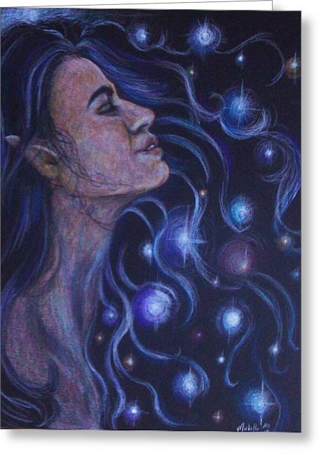 Goddess Pastels Greeting Cards - Star Goddess Greeting Card by Michelle Spragg