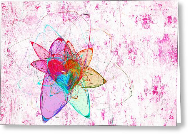 Abstract Shapes Greeting Cards - Star Heart Greeting Card by Andee Design