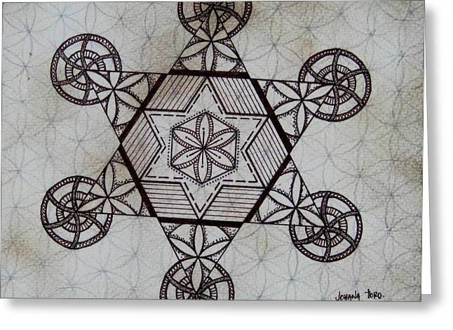Sacred Drawings Greeting Cards - Star I Greeting Card by Johana Toro