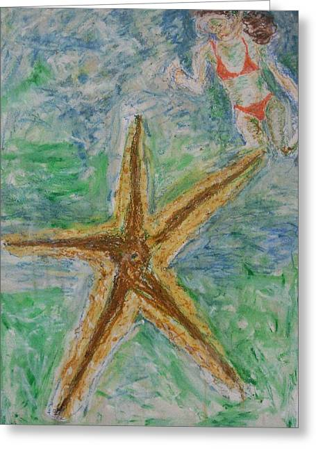 Iris Gill Greeting Cards - Star Greeting Card by Iris Gill