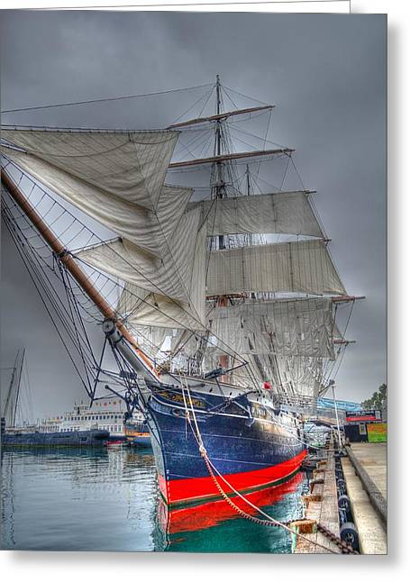 Tall Ships Greeting Cards - Star of India Greeting Card by Robert Kaler