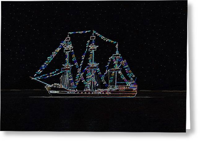 Art Of Sailing Greeting Cards - Star ship Greeting Card by David Lee Thompson