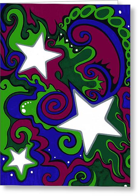 Star Slime Greeting Card by Mandy Shupp