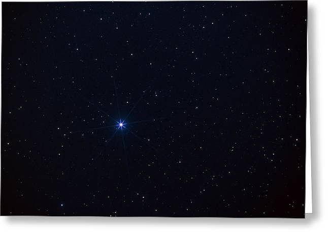 Constellations Greeting Cards - Star Spica In The Virgo Constellation Greeting Card by John Sanford