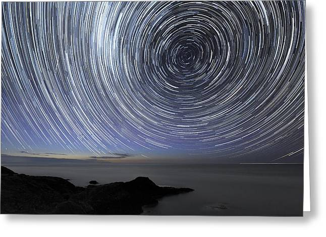 Moonlit Night Greeting Cards - Star Trails Over Flinders, Australia Greeting Card by Alex Cherney, Terrastro.com