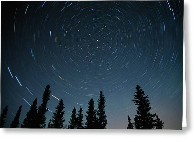 Star Trails, Sandilands Provincial Greeting Card by Mike Grandmailson