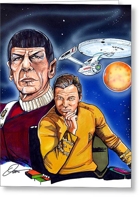 Star Trek Greeting Card by Dave Olsen