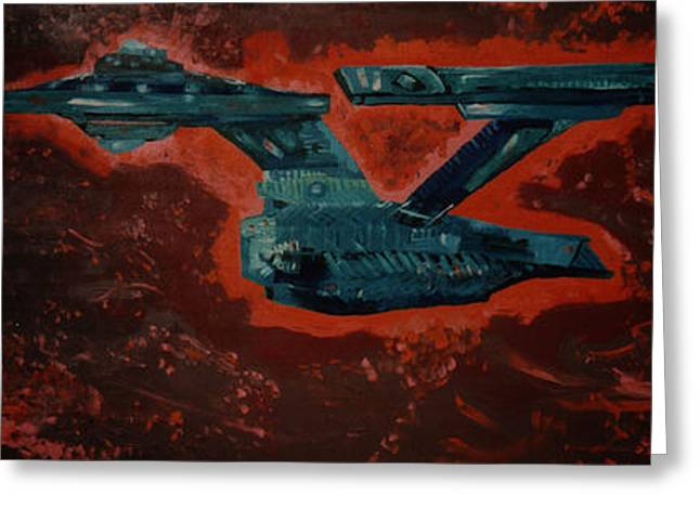 Star Trek Triptec Greeting Card by David Karasow