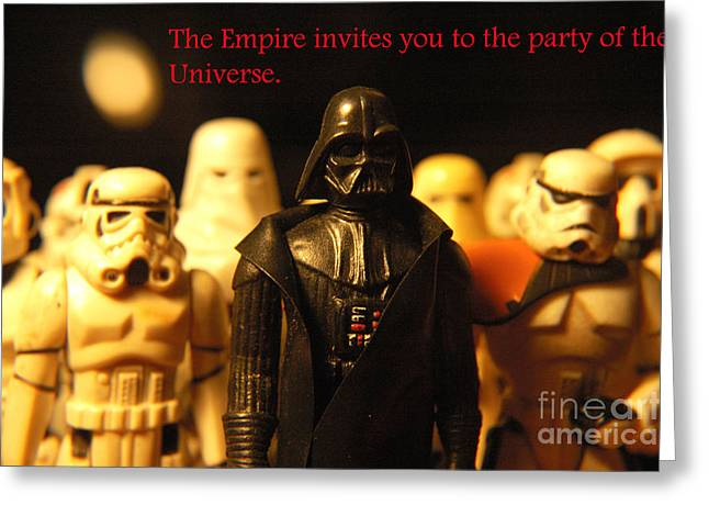 Party Invite Photographs Greeting Cards - Star Wars Gang 5 Greeting Card by Micah May
