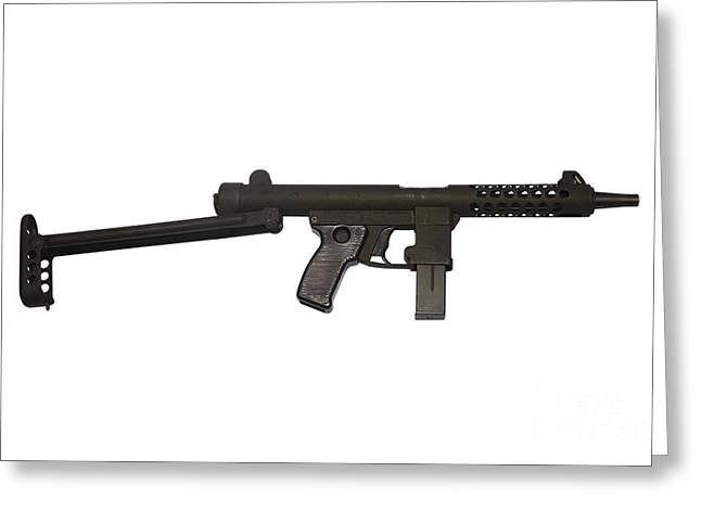 Star Z70b 9mm Submachine Gun Greeting Card by Andrew Chittock