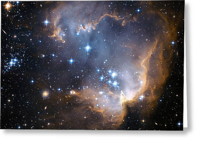 Magellanic Greeting Cards - Starbirth Region Ngc 602 Greeting Card by Hubble Heritage Teamnasaesastsciaura