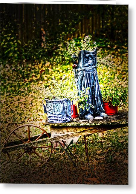 Starched Coveralls Greeting Card by Randall Branham