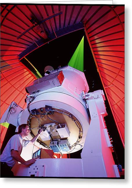 Starfire Photographs Greeting Cards - Starfire Telescope Greeting Card by David Parker