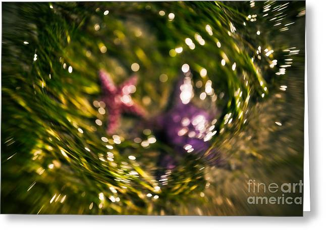 Starfish In Water Greeting Cards - Starfish Swirl Greeting Card by Venetta Archer