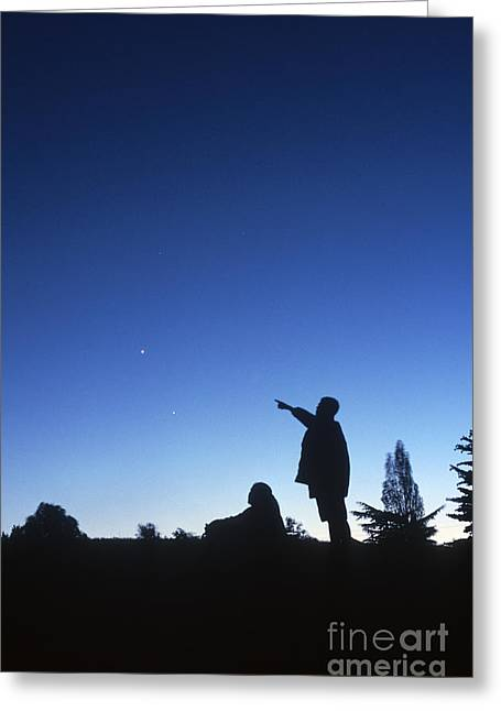 Gazer Greeting Cards - Stargazing Greeting Card by Science Source