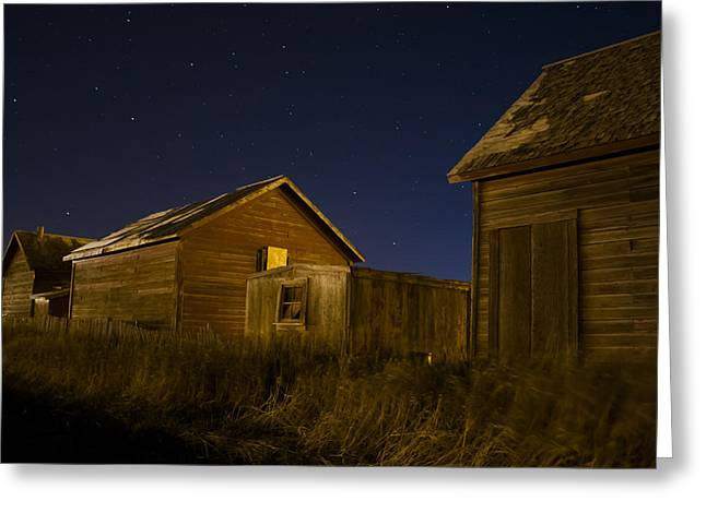 Low Country Cottage Greeting Cards - Starlight Cabin Greeting Card by Mike Denton