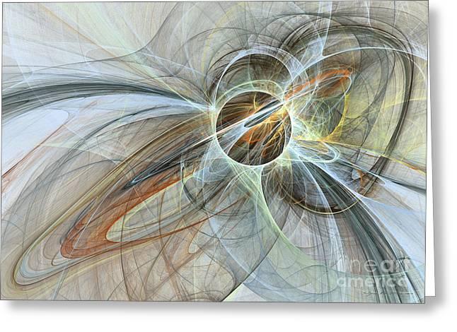 Interior Still Life Mixed Media Greeting Cards - Starlight dreams - abstract art Greeting Card by Abstract art prints by Sipo