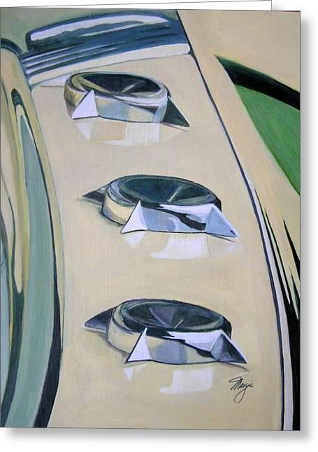 Vintage Hood Ornament Paintings Greeting Cards - Starliner Greeting Card by Margie Larson