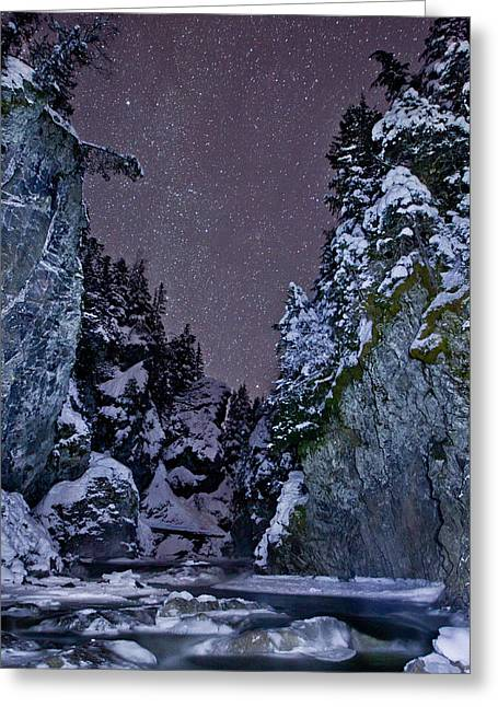 British Columbia Greeting Cards - Starry Creek Greeting Card by Brandon Broderick
