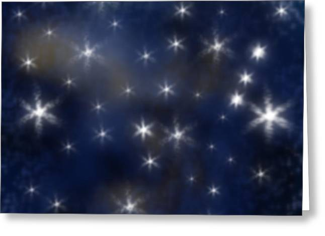 Starry Night Greeting Card by Clayton Bruster