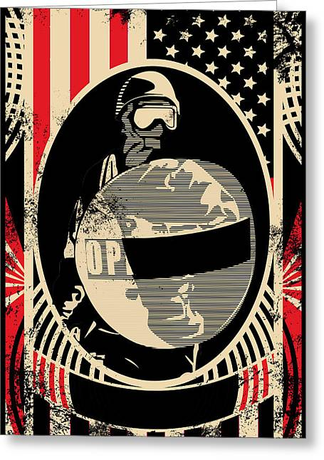 Oppress Greeting Cards - Stars and Bars Greeting Card by Ian Tullock