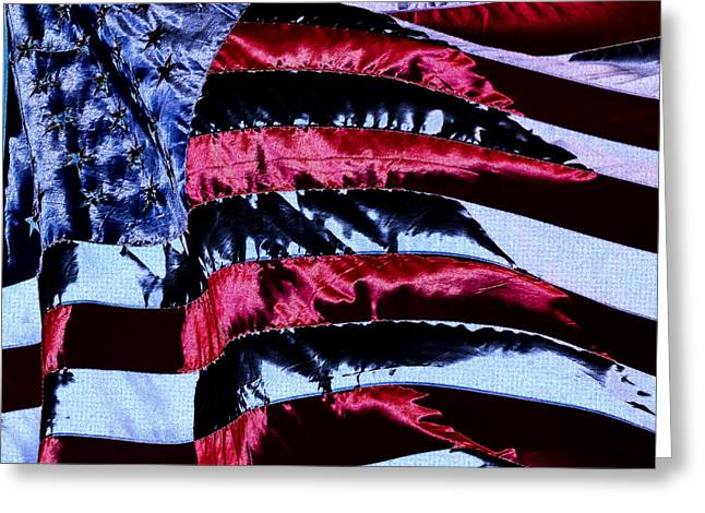 U S Flag Digital Art Greeting Cards - Stars and Stripes Greeting Card by David Patterson
