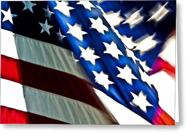Patrotic Greeting Cards - Stars and Stripes Greeting Card by Joe Carini