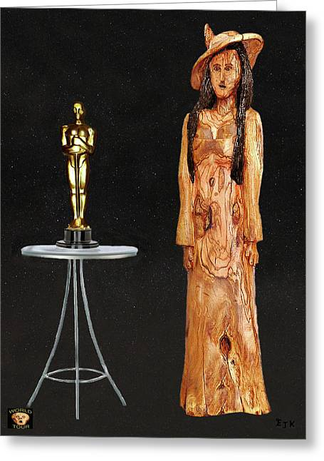 Best Of Red Carpet Greeting Cards - Stars Fashion  Greeting Card by Eric Kempson
