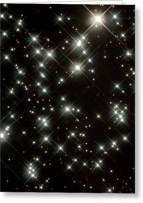 Wfpc2 Greeting Cards - Stars In M4 Globular Cluster Greeting Card by Nasaesastscih.richer,ubc