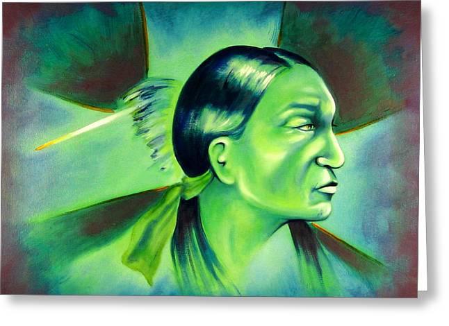 Chicano Art Greeting Cards - Stars Greeting Card by Robert Martinez