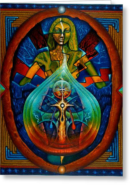 Native American Greeting Cards - Starseed Greeting Card by Kevin Chasing Wolf Hutchins