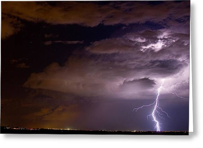 Lightning Bolt Pictures Greeting Cards - Start High Work Low Greeting Card by James BO  Insogna