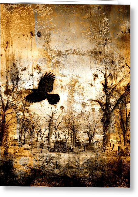 Gothicrow Greeting Cards - Start Of Chaos  Greeting Card by Gothicolors Donna Snyder