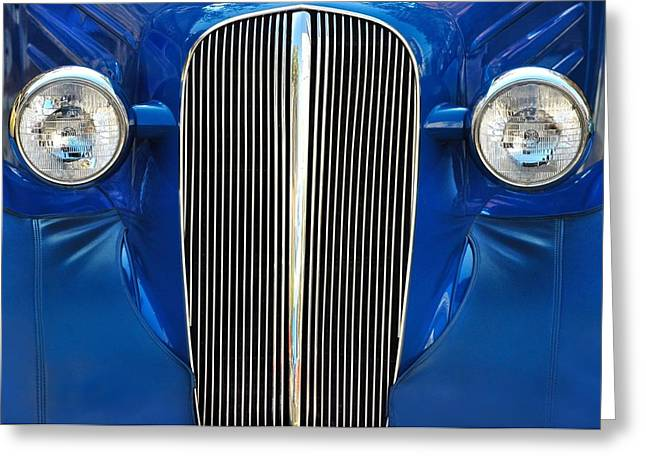 Car Grill Greeting Cards - Startled Car Greeting Card by Dan Holm