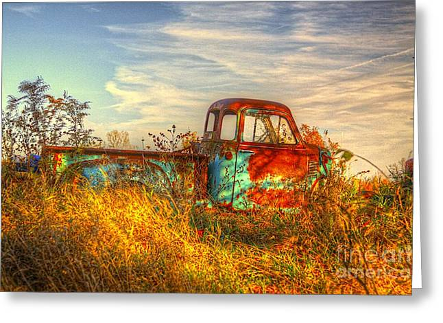 Rusty Pickup Truck Greeting Cards - Starving Artist Greeting Card by Robert Pearson