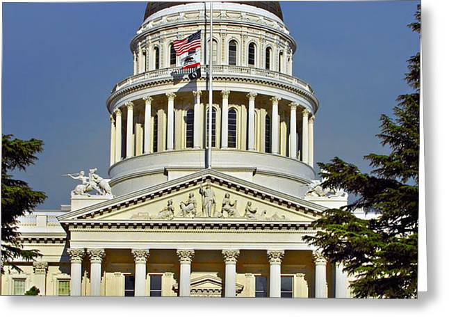 State Capitol Building Sacramento California Greeting Card by Christine Till