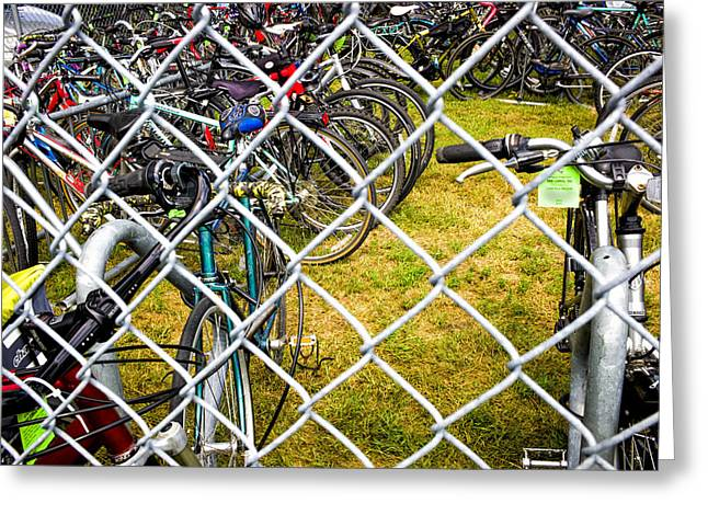 Hdr Effects Greeting Cards - State Fair Bike Coral  Greeting Card by Susan Stone