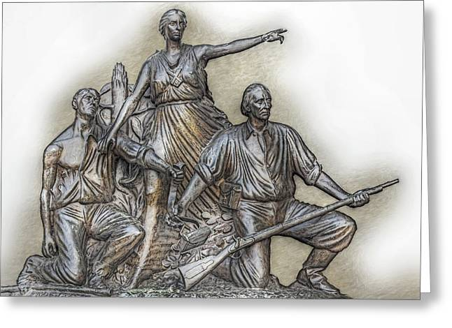 Confederate Monument Digital Art Greeting Cards - State of Alabama Monument at Gettysburg Greeting Card by Randy Steele