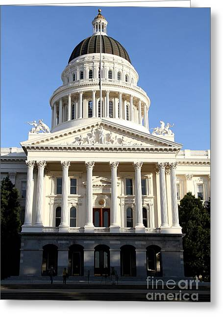 Schwarzenegger Greeting Cards - State of California Capitol Building . 7D11747 Greeting Card by Wingsdomain Art and Photography