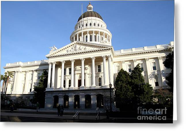 Republican Greeting Cards - State of California Capitol Building . 7D11748 Greeting Card by Wingsdomain Art and Photography