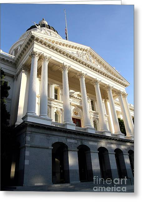 Republican Greeting Cards - State of California Capitol Building . 7D11783 Greeting Card by Wingsdomain Art and Photography