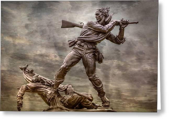 Confederate Monument Digital Art Greeting Cards - State of Mississippi Monument at Gettysburg  Greeting Card by Randy Steele