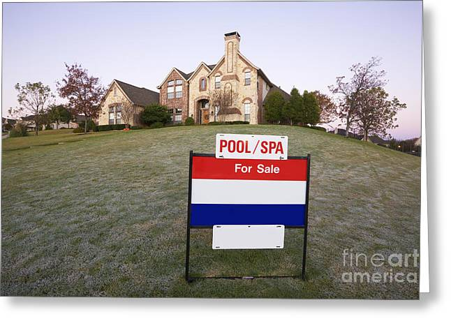 Yard Sale Greeting Cards - Stately Home for Sale Greeting Card by Jeremy Woodhouse