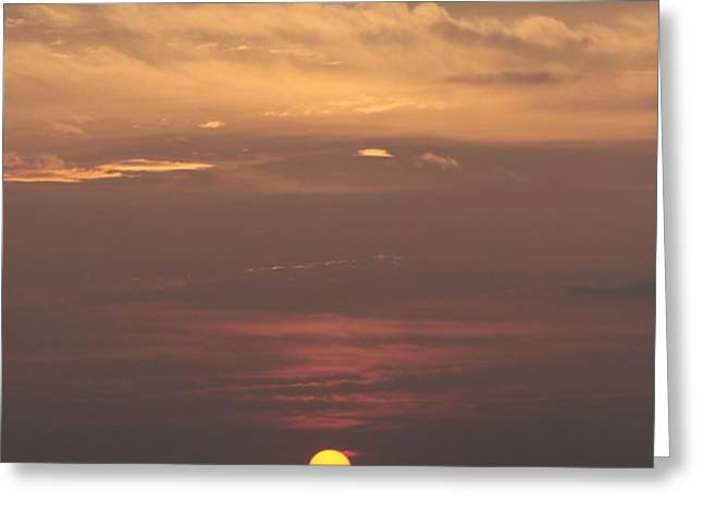 Staten Island Ferry and Sunset Greeting Card by Christopher Kirby