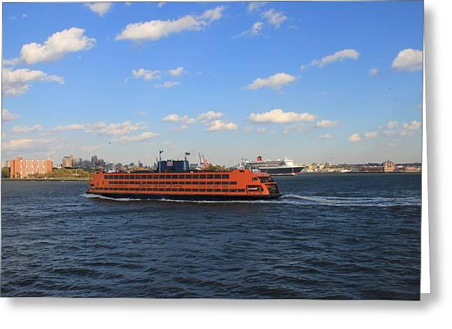 Staten Island Ferry Greeting Cards - Staten Island Ferry Greeting Card by Andrew Fare
